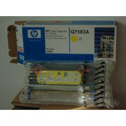 HP Q7582A  eredeti toner - sárga *CSOMAGOLÁS-SÉRÜLT!*
