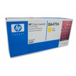 HP Q6472A (502A) eredeti sárga festékkazetta (yellow)