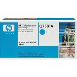 HP  Q7581A eredeti toner cián