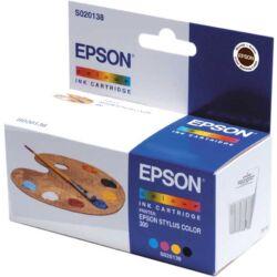 Epson S020138 színes (4-colors) eredeti tintapatron